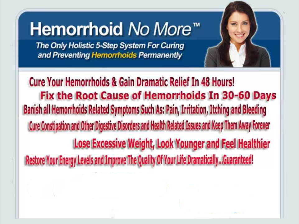 Hemorrhoid No More scam