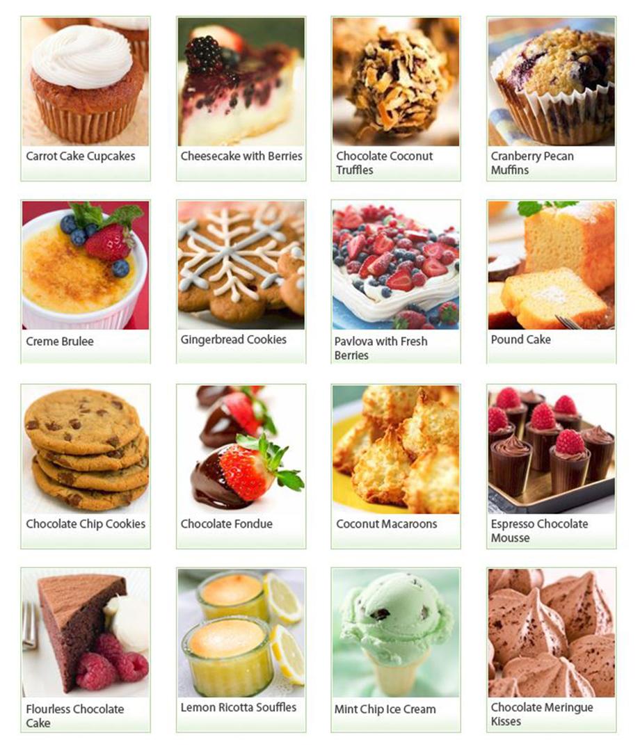 Guilt Free Desserts foods