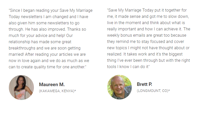 Save My Marriage Today customer reviews