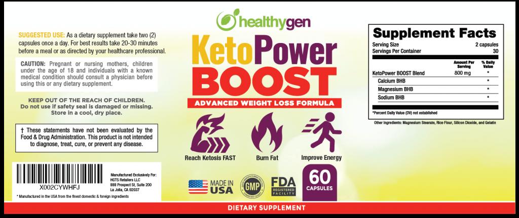 keto power boost dosage